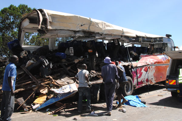 2.Over 40 People Were Killed in a Crash Between Matatu and A Stalled Tractor (December 2017)