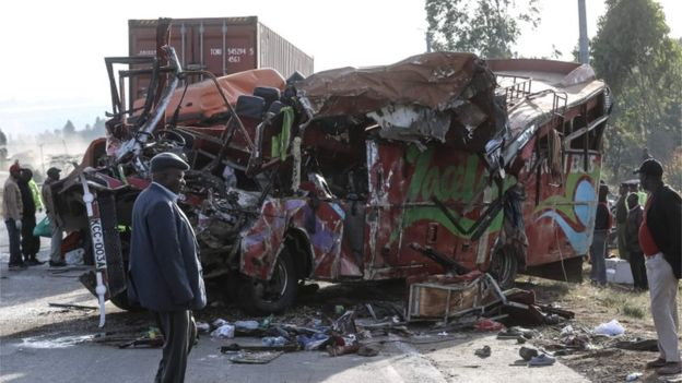 36 People Died in a Crash Between A Lorry and a Nairobi Bus (December 2017)