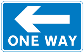 Road signs in rectangles give informatio