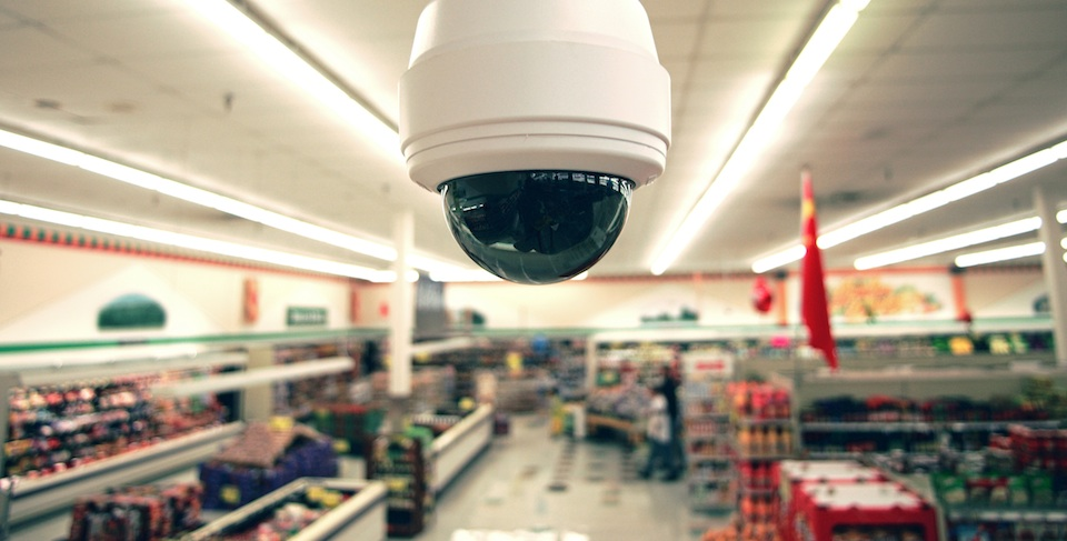 CCTV cameras in shopping malls